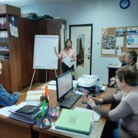 В ООО «Управляющая компания «Милана » прошёл очередной обучающий тренинг «Стандарт телефонного обслуживания » для сотрудников.